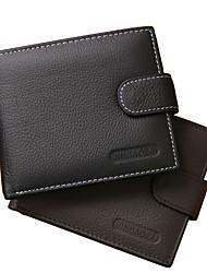 Недорогие -Муж. Мешки Бумажники Рельефный Сплошной цвет Черный / Коричневый