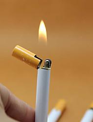 Недорогие -сигарета в форме бутана зажигалка без газа многоразового бутан газа зажигалки тонкие мини-формы новинка легче нет масла