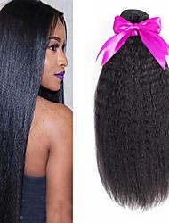 Недорогие -6 Связок Перуанские волосы Яки 8A Натуральные волосы Человека ткет Волосы Пучок волос One Pack Solution 8-28 дюймовый Нейтральный Естественный цвет Ткет человеческих волос