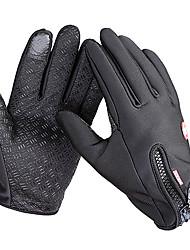 Недорогие -Перчатки для велосипедистов / Лыжные перчатки / Перчатки для сенсорного экрана Муж. / Жен. Полный палец С защитой от ветра / Водонепроницаемость / Сохраняет тепло холст / руно Катание на лыжах