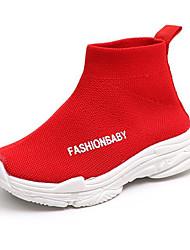 Недорогие -Мальчики / Девочки Обувь Сетка Наступила зима Удобная обувь Ботинки для Дети / Дети (1-4 лет) Черный / Серый / Красный / Полиэстеровая резина