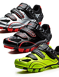 cheap Valentine's Day Sale-SANTIC Mountain Bike Shoes Nylon Anti-Slip, Fast Dry, Ultra Light (UL) Cycling Black / White / Black / Red / fluorescent green Men's / Breathable Mesh / Breathable / Hook and Loop