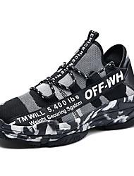 abordables -Homme Chaussures de confort Maille / Matière synthétique Printemps été Décontracté Basket Respirable Blanc / Noir / Vert