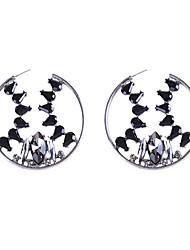 billige -Dame Krystal Skulptur Store øreringe - Guldbelagt Europæisk Guld / Hvid / Sort Til Daglig