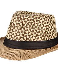 Недорогие -Муж. Классический Соломенная шляпа С принтом