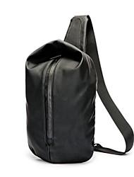 baratos -Homens Bolsas Náilon Sling sacos de ombro Ziper Preto
