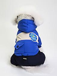 abordables -Chiens Manteaux Vêtements pour Chien Couleur Pleine Gris / Rouge / Bleu Coton / Matériel mixte Costume Pour les animaux domestiques Unisexe Coupe-vent / Décontracté / Sport