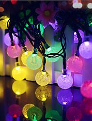 baratos -Festa de Natal feericamente leve conduzida solar azul da corda de 40led