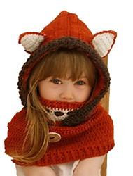 Недорогие -Дети (1-4 лет) Девочки Милая Животное Хлопок Головные уборы Красный M