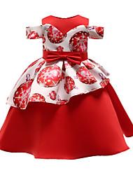 tanie -Dzieci / Brzdąc Dla dziewczynek Patchwork Krótki rękaw Sukienka