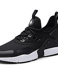 abordables -Homme Chaussures de confort Tricot / Toile Automne Sportif / Décontracté Chaussures d'Athlétisme Course à Pied Massage Blanc / Noir