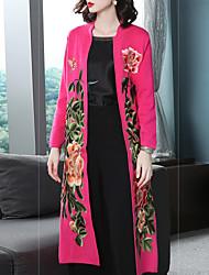 Недорогие -Жен. Пальто Винтаж / Шинуазери (китайский стиль) - Цветочные / ботанический Вышивка