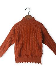 זול -סוודר וקרדיגן שרוול ארוך אחיד בנות ילדים