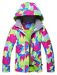 Per donna Giacca da sci Antivento Anti-pioggia Caldo Sci Sport invernali  Poliestere Giacca invernale Top Abbigliamento da neve   Inverno 8c653c3da3c