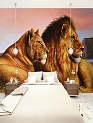 baratos -papel de parede / Mural Tela de pintura Revestimento de paredes - adesivo necessário Art Deco / Azulejo / 3D