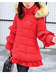 tanie -Dzieci Dla dziewczynek Solidne kolory Długi rękaw Odzież puchowa / pikowana