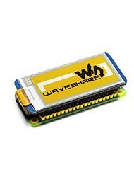 Недорогие -wavehare 2.13inch e-paper hat (c) 212x104 2.13 дюймовый экран для чернил для малины pi yellow / black / white трехцветный
