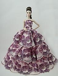 abordables -Mignon Robe Pour Poupée Barbie Polyester Robe Pour Fille de Jouets DIY