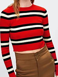 billige -Dame Basale Pullover - Stribet