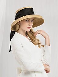 abordables -Fibre naturelle Chapeaux avec Ruban 1pc Décontracté / Usage quotidien Casque
