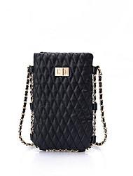 abordables -Femme Sacs PU Mobile Bag Phone Couleur unie Rose Claire / Beige / Argent