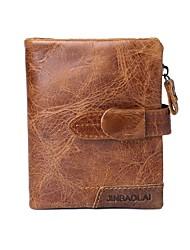 Недорогие -Муж. Мешки Бумажники Молнии Сплошной цвет Коричневый