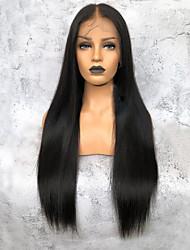 Недорогие -Не подвергавшиеся окрашиванию 360 Лобовой Парик Глубокое разделение Kardashian стиль Бразильские волосы Вытянутые Парик 150% Плотность волос Нейтральный Жен. Длинные
