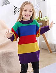 tanie -Dzieci Dla dziewczynek Tęczowy Długi rękaw Sweter i kardigan