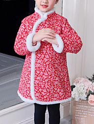 tanie -Dzieci Dla dziewczynek Patchwork Długi rękaw Sukienka