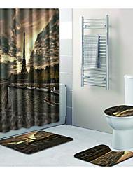 Недорогие -1 комплект Традиционный Коврики для ванны 100 г / м2 полиэфирный стреч-трикотаж Новинки Прямоугольная Ванная комната Градиент цвета
