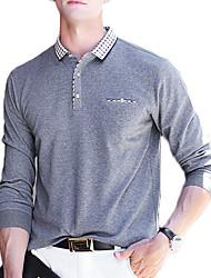 Недорогие -мужская работа хлопок поло - цветная рубашка воротник