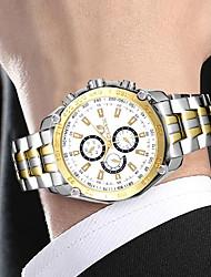 Недорогие -Муж. Нарядные часы Кварцевый Нержавеющая сталь Серебристый металл / Золотистый 30 m Секундомер Творчество Новый дизайн Аналоговый Роскошь Классика Элегантный стиль -  / Один год