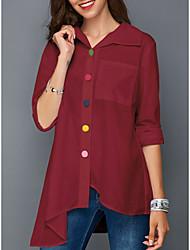 billige -Dame - Ensfarvet Gade Skjorte