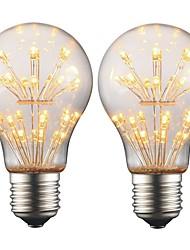 Недорогие -2w e27 edison led bulb a19 световая лампа накаливания переменного тока 220v - 240v для украшения рождественской вечеринки для вечеринок (2 шт.)