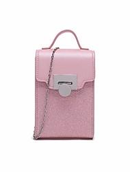 abordables -Femme Sacs PU Mobile Bag Phone Relief Noir / Argent / Rose Claire