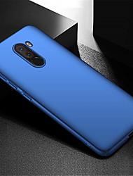 رخيصةأون -غطاء من أجل Xiaomi Xiaomi Pocophone F1 نحيف جداً غطاء خلفي لون سادة قاسي الكمبيوتر الشخصي إلى Xiaomi Pocophone F1