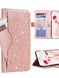 Недорогие -BENTOBEN Кейс для Назначение Apple iPhone 8 Plus / iPhone 7 Plus Бумажник для карт / Защита от удара / Флип Чехол Сияние и блеск Твердый Кожа PU / ПК для iPhone 8 Pluss / iPhone 7 Plus