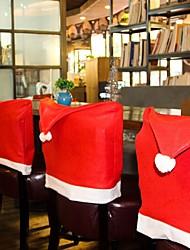 Недорогие -рождественский стул задняя обложка decoracion навидад шляпа рождественские украшения для дома обеденный стол новый год xmas стул обложка