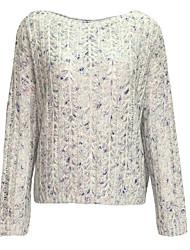 billige -Dame Gade Pullover - Farveblok