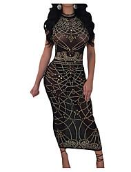 Недорогие -женский выход из тонкой оболочки платье высокой талии maxi шею экипажа