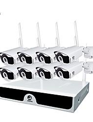 Недорогие -jooan® wireless cctv system 4-канальный 1080p видеомагнитофон cctv nvr 4 x 2.0mp wifi наружная сеть ip-камеры хорошее ночное видение