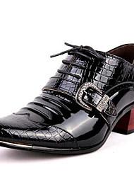 Недорогие -Муж. Комфортная обувь Синтетика Осень На каждый день / Английский Туфли на шнуровке Нескользкий Черный / Синий