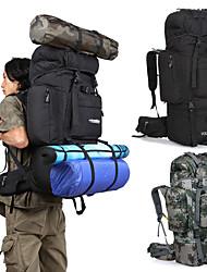 Недорогие -85 L Заплечный рюкзак - Дожденепроницаемый, 3D-панель, Анатомический дизайн На открытом воздухе Пешеходный туризм, Походы, Армия Оксфорд Черный, Камуфляжный, Хаки