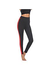 billige -Dame I-byen-tøj Sports Legging - Farveblok Medium Talje