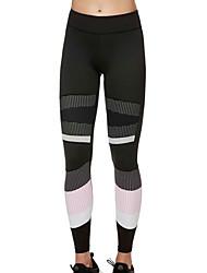 billige -Dame Daglig Sports Legging - Geometrisk / Farveblok Høj Talje
