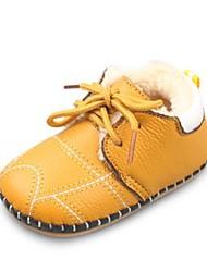 Недорогие -Мальчики / Девочки Обувь Кожа Зима Обувь для малышей / Меховая подкладка Ботинки Шнуровка для Дети Красный / Синий / Розовый