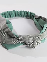 Недорогие -Хлопковая ткань ободки с Цветовые блоки 1 шт. На каждый день Заставка