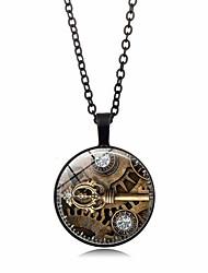 رخيصةأون -نسائي قديم قلادة خمر - مطلي بالفضة, مطلية بالذهب مفاتيح أنيق, عتيق, Steampunk ذهبي, أسود, فضي 50 cm قلادة مجوهرات 1PC من أجل هدية, مناسب للبس اليومي