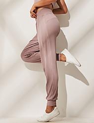 Недорогие -Жен. Гарем Брюки-штаны Виды спорта Сплошной цвет Эластан С высокой талией Нижняя часть Zumba Бег Фитнес Спортивная одежда Дышащий Мягкий 4-сторонняя растяжка Эластичность Обтягивающие