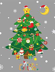Недорогие -Декоративные наклейки на стены - Праздник стены стикеры Рождество / Цветочные мотивы / ботанический В помещении / Детская